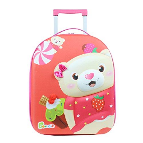Bouncie Knorrtoys 14512-3D-Trolley Bear Kindergepäck, 20.0 Liter, Mehrfarbig