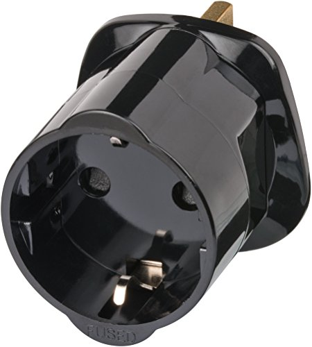 Brennenstuhl Travel Adapter earthed/GB Negro adaptador e inversor de corriente - Fuente...