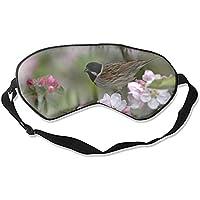 Schlafmaske mit Vögeln und Blumen, Maulbeerseide, Augenmaske preisvergleich bei billige-tabletten.eu