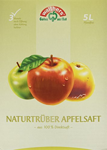 Walthers Apfelsaft Direktsaft natur, 2er Pack (2 x 5 l Saftbox) (Apfelsaft-kartons)
