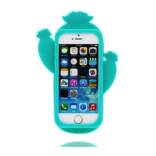 iPhone 5 / 5S Hülle, TPU Gel Shell für Mädchen Handyhülle iPhone SE 5C 5G Cover - Lovely 3D Cartoon Panda Bamboo, Anti-Schock-Kratzer grün