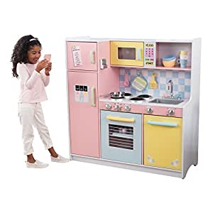 kidkraft cuisine enfant en bois large pastel jeux et jouets. Black Bedroom Furniture Sets. Home Design Ideas