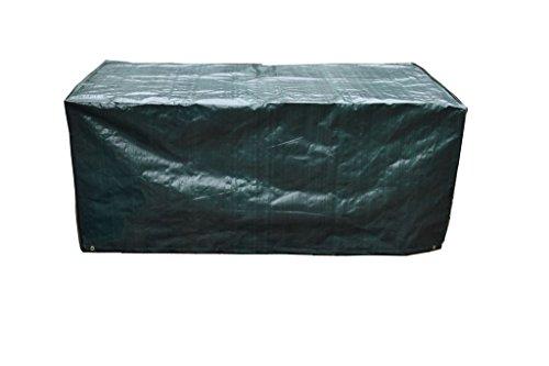 PATIO PLUS Schutzhülle für Rechteckigen Gartentisch, Wetterfeste Anti-UV-Terrasse Abdeckung, Wasserdicht Atmungsaktive Polyester Gartenmöbel Abdeckung (170x95x70cm, grün)