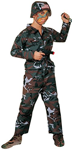 Forum Novelties Forest Camo Soldier Kostüm, Kind - Kinder Armee Commando Kostüm