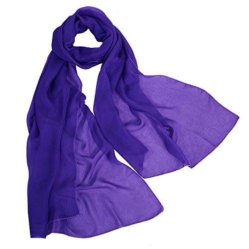 bbonlinedress Schal Chiffon Stola Scarves in verschiedenen Farben Royal Blue 190cmX70cm