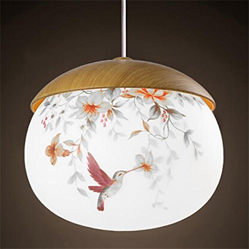 Creative Light-lampadari in vetro dipinti a mano singola testa Nordic