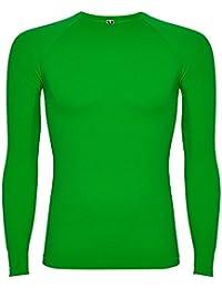 Amazon.es  Verde - Camisetas de manga larga   Camisetas 22ecc7b08370e