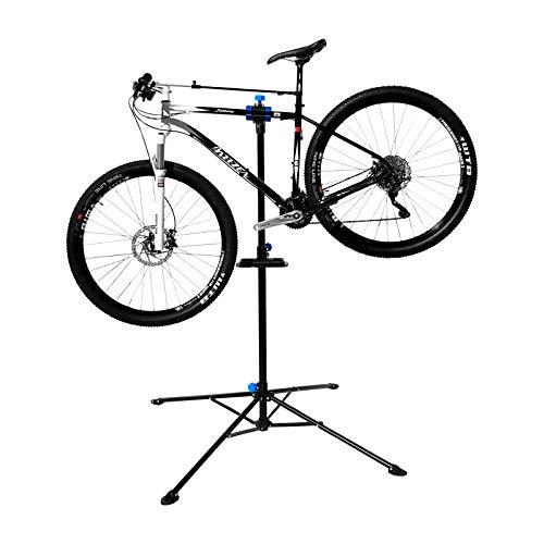 WELLGRO® Fahrradmontageständer - Stahl, schwarz, platzsparend zusammenklappbar, höhenverstellbar