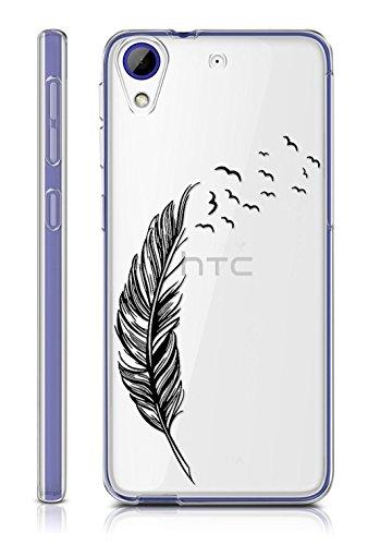 Sunrive HTC Desire 650/628 / 626 / 626G Hülle Silikon, Transparent Handyhülle Schutzhülle Etui Case Backcover für HTC Desire 650/628 / 626 / 626G(TPU Feder)+Gratis Universal Eingabestift