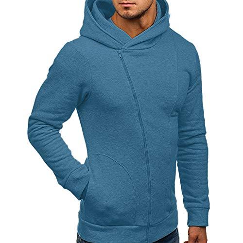 Yvelands Herren Sweatshirt Langarm Herbst Winter Casual Sweatshirt -