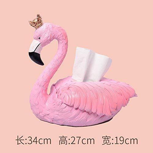 WLM Décoration de résine de Flamant Rose, décoration Rose de boîte à Serviettes de Papier de Flamant Rose, Ornements décoratifs, Cadeaux,Boîte à Serviettes Rose en Papier Flamingo