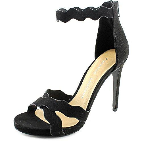 Chinese Laundry Blossom Dress Sandal Faux Wildleder Sandale Black