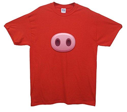 Pig Snout Emoji T-Shirt Rot
