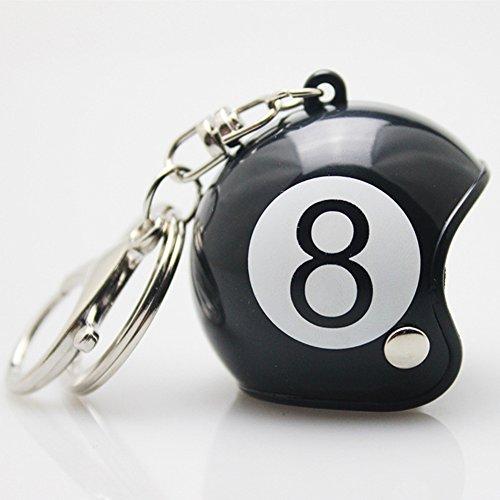 bulary Neueste Car Accessories Anhänger Motorrad Helm Schlüsselanhänger Black ball 8