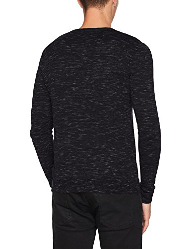 JACK & JONES Herren Pullover Jorgrow Knit Crew Neck Noos Grau (Dark Grey Melange Detail:Knit Fit - Special Melange)