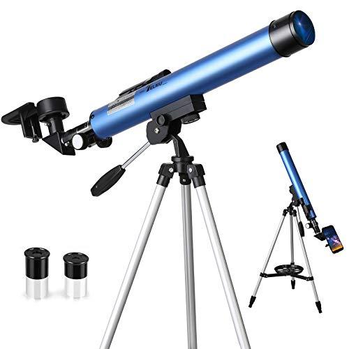 Oferta de TELMU Telescopio Astronómico, el aumento es 30X y 48X, con visor de infrarrojos, trípode ajustable (60-110 cm), un regalo para los apasionados de la Astronomía Entry-Level