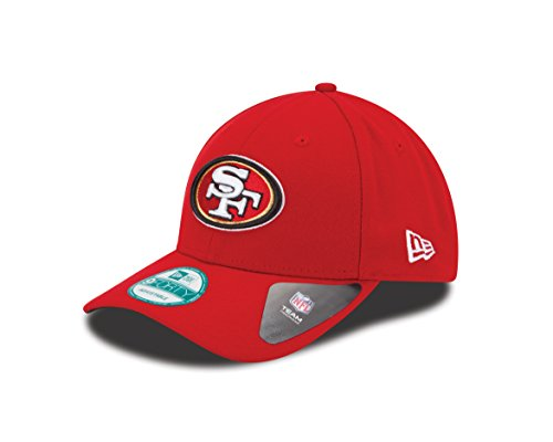 New Era The League 9Forty San Francisco 49Ers Offical Team Colour - Casquette De Baseball - Homme - Rouge (Red) - Taille Unique (Taille Fabricant: One Size)