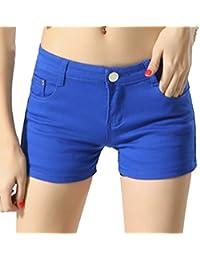 Cayuan Femmes Short Jean Pantalons Court Slim Élasticité Jeans Shorts Denim Pantalon Hot Pants Ete