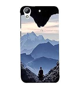 EPICCASE Keep Calm and Meditate Mobile Back Case Cover For HTC Desire 626 (Designer Case)
