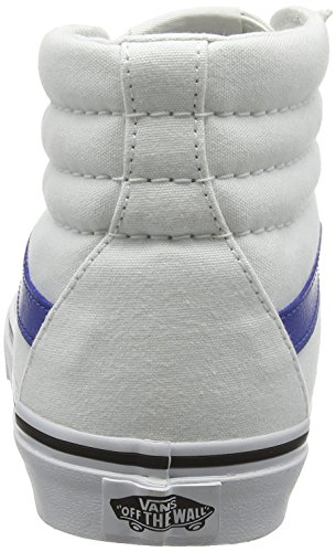 Vans Sk8-Hi, Baskets Basses Mixte Adulte Blanc (Canvas True White/True Bleue)