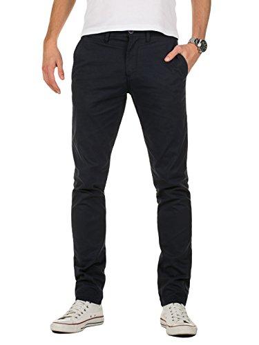 Yazubi Chino Hose Herren Blau - Kyle by Yzb Jeans - Blaues Business Stoff Chinohose für Männer Stretch Chinos, Navy (Dark Sapphire 194020), W31/L34