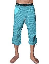Nograd Hombres del sahel impresión Ruche 3/4Pantalones cortos, hombre, color Blue Lagon, tamaño XS