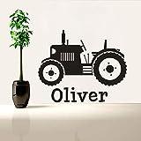Adesivo in vinile per trattore agricolo Adesivo personalizzato per bambini Nome Adesivo per contadino Adesivo in vinile per bambini Adesivo per trattori pergrandi animali 70X57CM