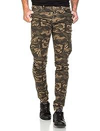 Sixth June - Pantalon cargo homme skinny camouflage