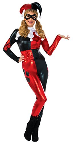 Rubie's Women's Deluxe Harley Quinn Jumpsuit Fancy Dress Costume Large (Jumpsuit Quinn Harley)