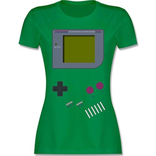 Nerds & Geeks - Gameboy - L - Grün - L191 - Damen Tshirt und Frauen T-Shirt