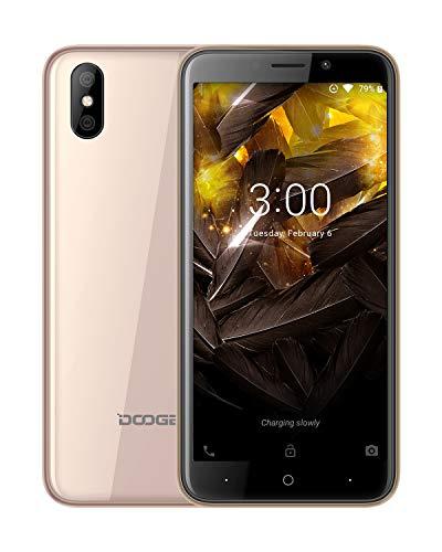DOOGEE X50L Téléphone Portable Débloqué Pas Cher 4G Double SIM, Smartphone Android 8.1, Écran 5.0 Pouce 18:9-1GB RAM 16GB ROM - 5MP Double Arrière Caméra - Quad Core, 2000mAh Face ID - O