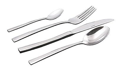 Sabichi Mayfair 24-Piece Cutlery Set, Stainless Steel, Silver, 4.7 x 36.4 x 25.7 cm by Sabichi
