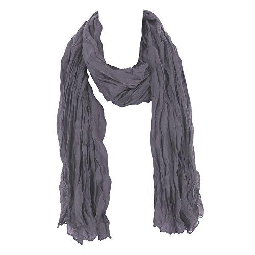Leichter Damen Schal Nr. 374 Grau