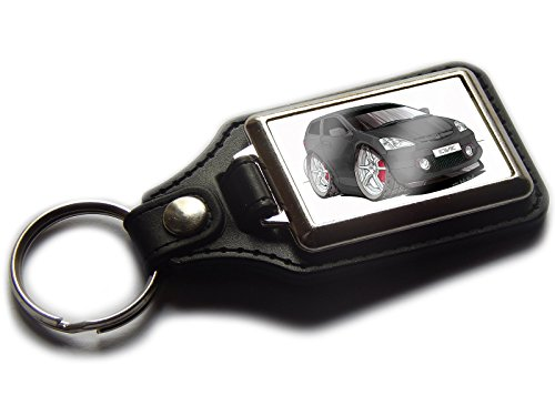 honda-civic-type-r-classic-shape-premium-koolart-leather-and-chrome-keyring-choose-a-colour-black