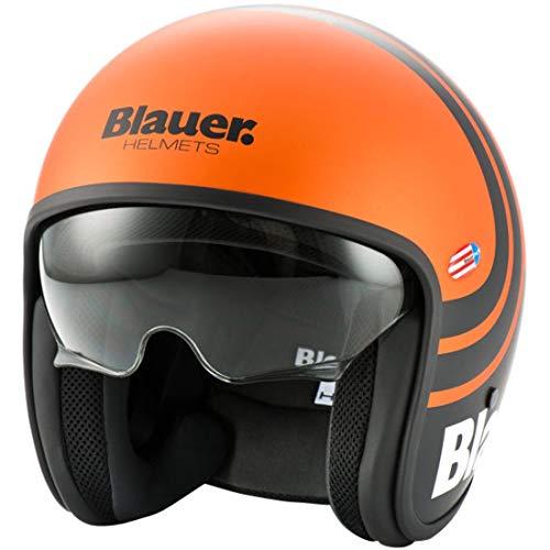 Blauer HT Pilot 2.0 Casque de moto Orange - S