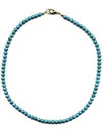 Kette aus Perlen komponiert 44cm blau türkis
