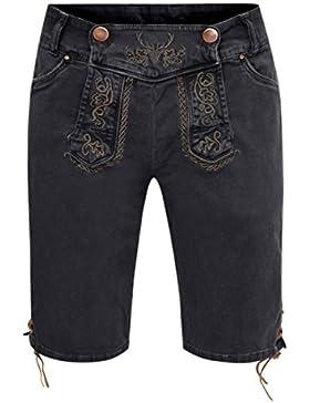Jeans-Lederhose Alfred in Schwarz von Hangowear