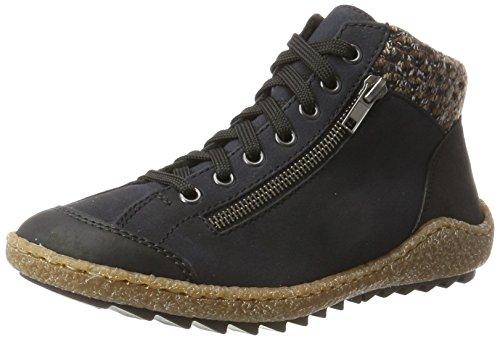 Rieker Damen M2941 Hohe Sneaker, Blau (Schwarz/Pazifik/Terra), 39 EU