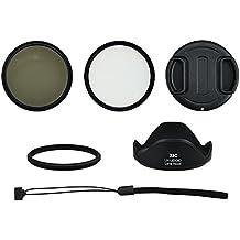 Juego de accesorios, Starter Set, Foto-ABC, accesorios, Starterkit para Canon PowerShot SX60HS (58mm adaptador, filtro, parasol, tapa de objetivo)