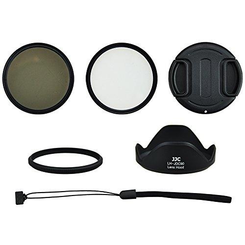 Zubehörset, Starterset, Einstiegsset, Zubehörkit, Starterkit für Canon PowerShot SX60 HS (58mm Adapter, Filter, Gegenlichtblende, Objektivdeckel)