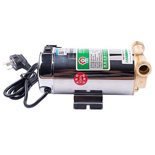 Vogvigo La Bomba elevadora de presión Topqsc 100W de Agua, Bomba de Refuerzo hogar automático para la Ducha Hogar Jardín Lavadora - Acero Inoxidable