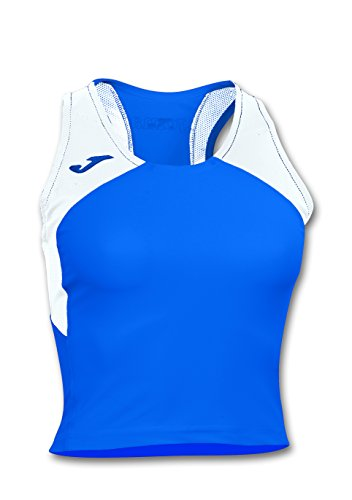 Mag JOMA T-shirt record iI Woman ROYAL-WHITE Sleeveless Running T-shirt de sport femme Royal Bianco