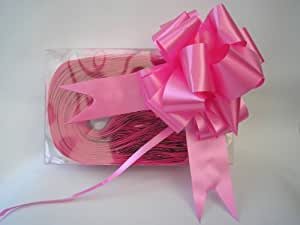"10 x 50mm (2"") Rapid Satin Pull Bows - CERISE HOT PINK for Gift Decorations, Flower Bouquets & Arrangements, Baskets, Wedding Cars, Floral Tributes, Arts & Crafts, Christmas Hampers"