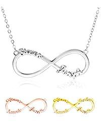 438ccd1a008b Collar con Nombre Personalizado - Collar Infinito Plata 925 Mejores Amigas  Collares- Collares Mujer