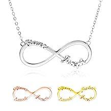 697adedc9f0f Collar con Nombre Personalizado - Collar Infinito Plata 925 Mejores Amigas  Collares- Collares Mujer