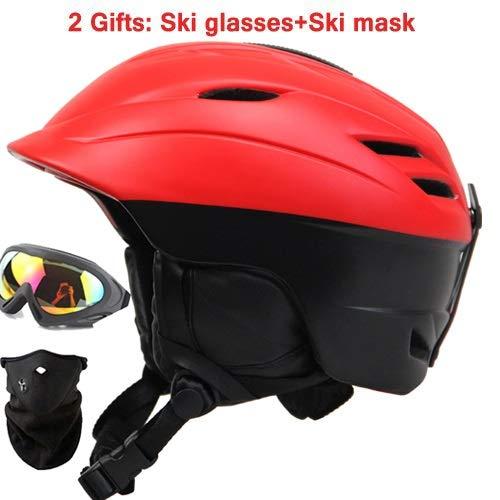 Männliche und weibliche Kinder-Skihelm integriert Erwachsenen Snowboardhelm Skiausrüstung Brille Maske (Color : NO.1, Size : M)