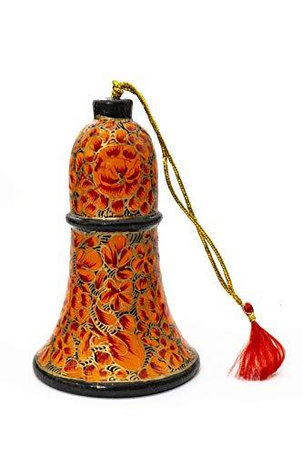 Jafar Anhänger Weihnachten Glocke bunt Fair Trade (7,5cm) (Pappmaché Weihnachten Ornamente)