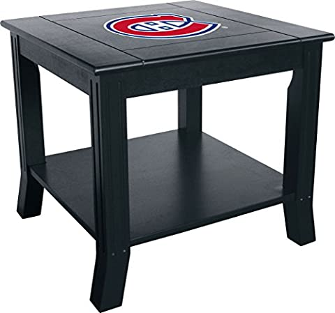 Imperial Officially Licensed NHL Furniture: Hardwood Side/End Table, Montreal Canadiens