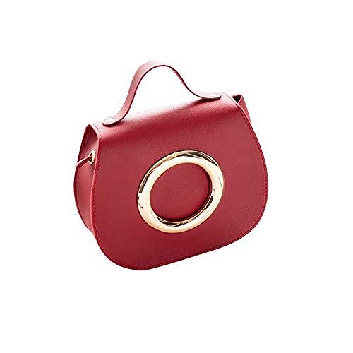 Umhängetasche für Damenmode Pure Color Leather Messenger Schulter Brusttasche Serie 1