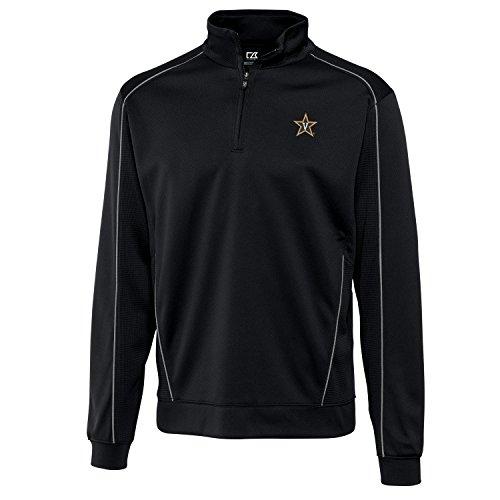 Cutter & Buck Herren Jacke NCAA Vanderbilt Edge Half Zip, Schwarz, Größe XXL - Cutter Buck Golf-bekleidung
